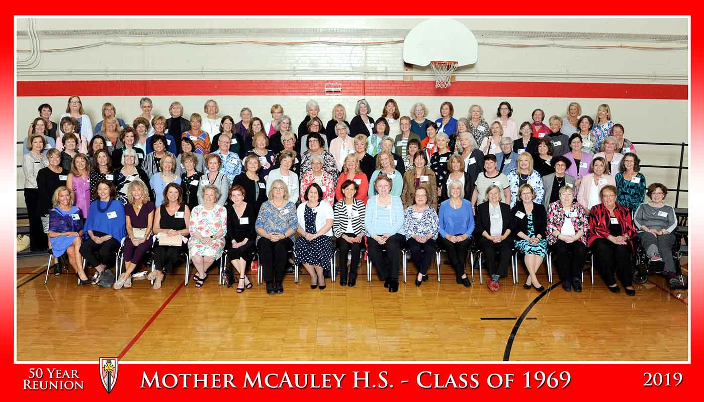 Mother McCauley class of 69 reunion photo